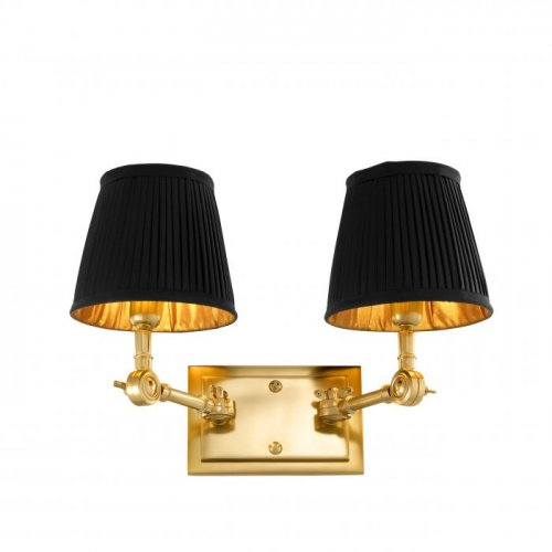Kinkiet WENTWORTH GOLD/BLACK DOUBLE 33x25x25 cm 107178 firmy Eichholtz