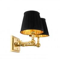 Kinkiet WENTWORTH GOLD/BLACK DOUBLE 33x25x25 cm 107178 firmy Eichholtz