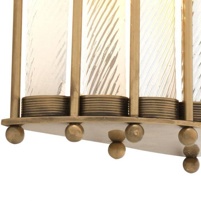 Kinkiet TIZIANO ANTIQUE BRASS 22x11x54 cm 111579 firmy Eichholtz