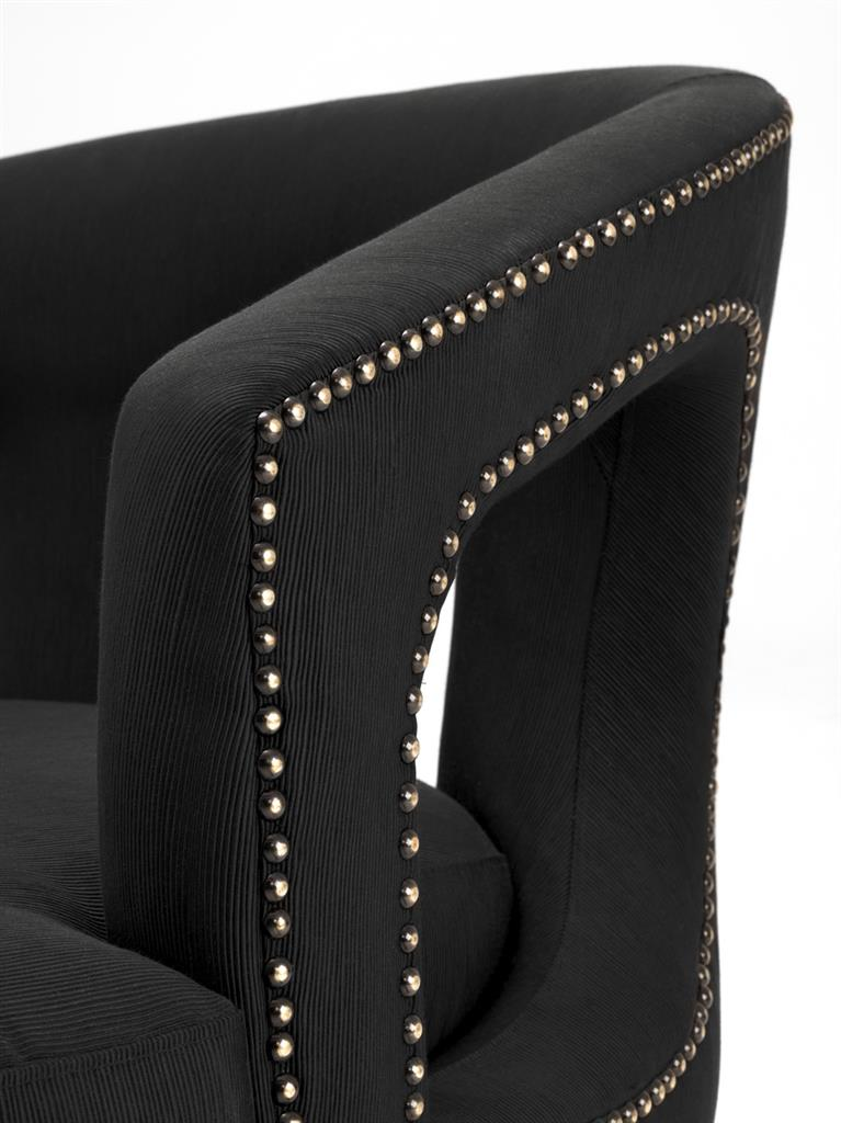 Fotel ADAM BLACK 111258 firmy Eichholtz