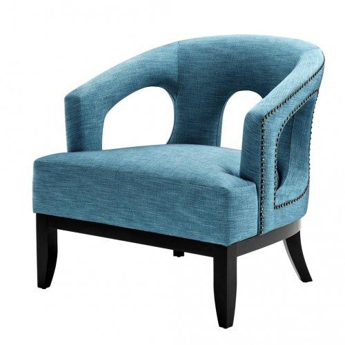 Fotel ADAM BLUE 111949 firmy Eichholtz