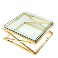 Stolik kawowy CURTIS GOLD 100x100x46,5cm 112394 firmy Eichholtz
