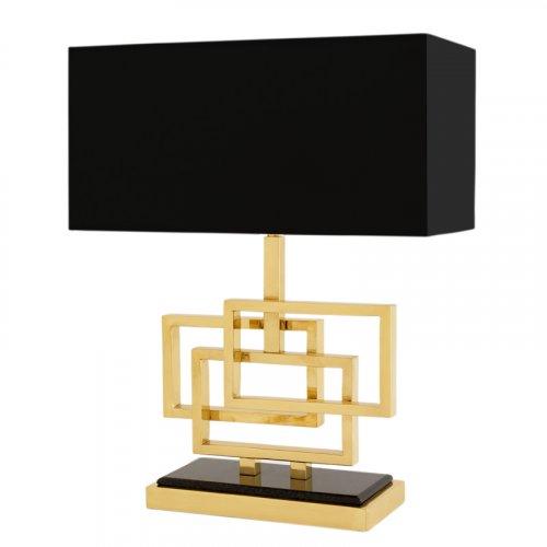 Lampa z abażurem WINDOLF POLISHED BRASS 29x28cm 109626 firmy Eichholtz