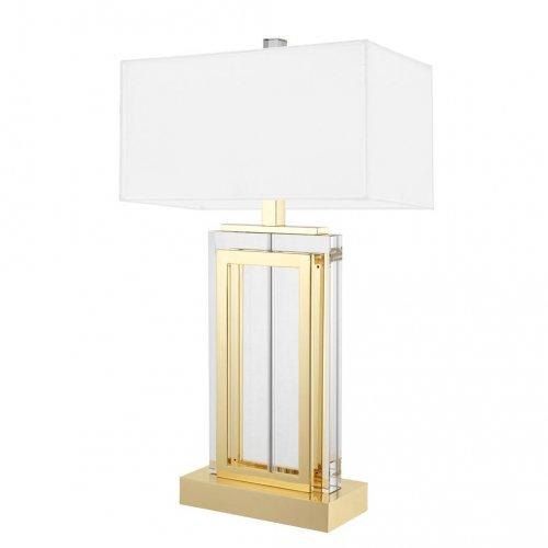 Lampa z abażurem ARLINGTON CRYSTAL GLASS/GOLD 25x38x67,5cm 112408 firmy Eichholtz