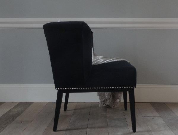 Fotel MARIKA Velvet Black