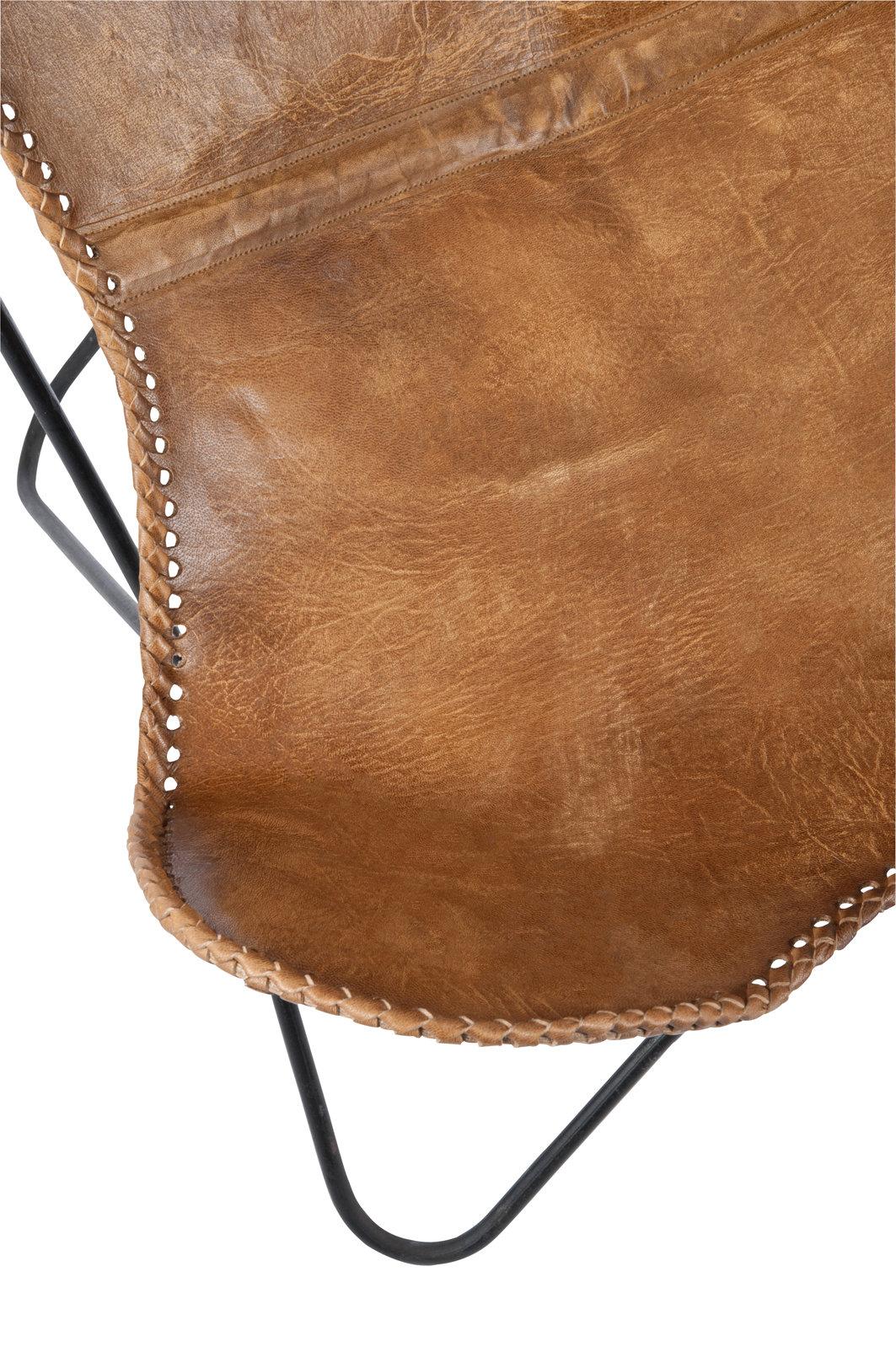 Fotel BUTTERFLY 65004 skóra