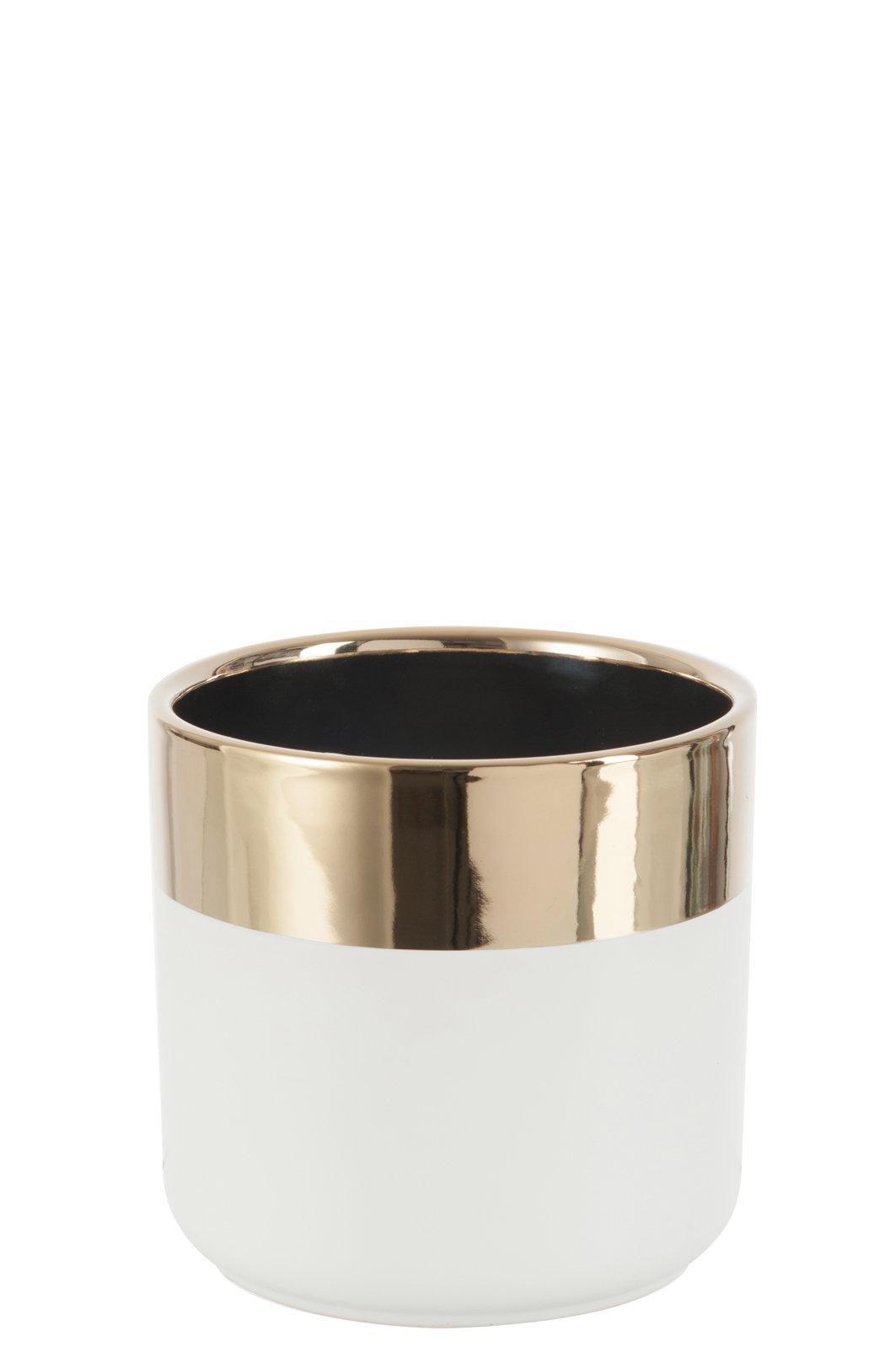 Donica 75656 CERAMIC/GOLD Ø13,5x12cm