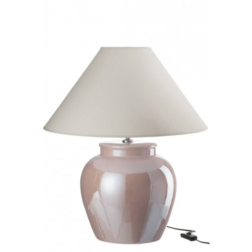 LAMPA Z ABAŻUREM 68168 LIGHT PINK