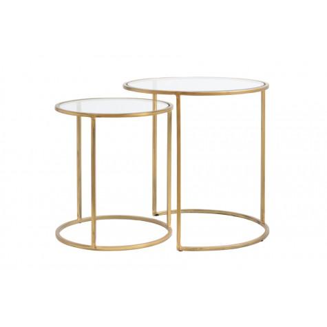 Komplet 2 stolików DUARTE 6724985 Ø50x52cm + Ø40x45cm