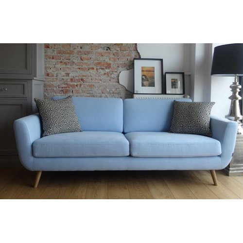 Sofa SMILE 3os. MARIAM SOFT BLUE OAK COMF1 MTI Furninova