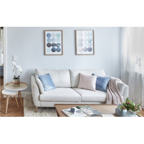 Sofa SALMA 3 DAY WILTON161SNOW OAK COMEU MTI Furninova