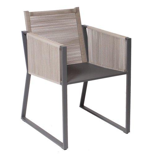 Fotel ogrodowy MODENA 7245 Anthracite 53,5x64x80,5cm firmy Borek