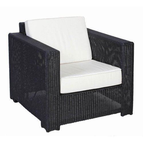 Fotel ogrodowy pleciony PLAZA Lounge 4053 Black 87x90x77,5cm firmy Borek