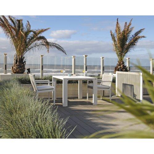 Stół ogrodowy SAMOS Small 7214 White 100x100x75cm firmy Borek